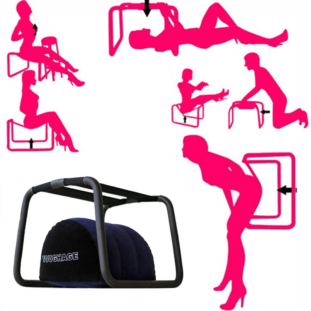 Sex Position Chair Multifunctional, Fits Many Positions Stool Toy with Elasticity Pillow for Couples Deeper Position Improve Happiness by SamMoSon