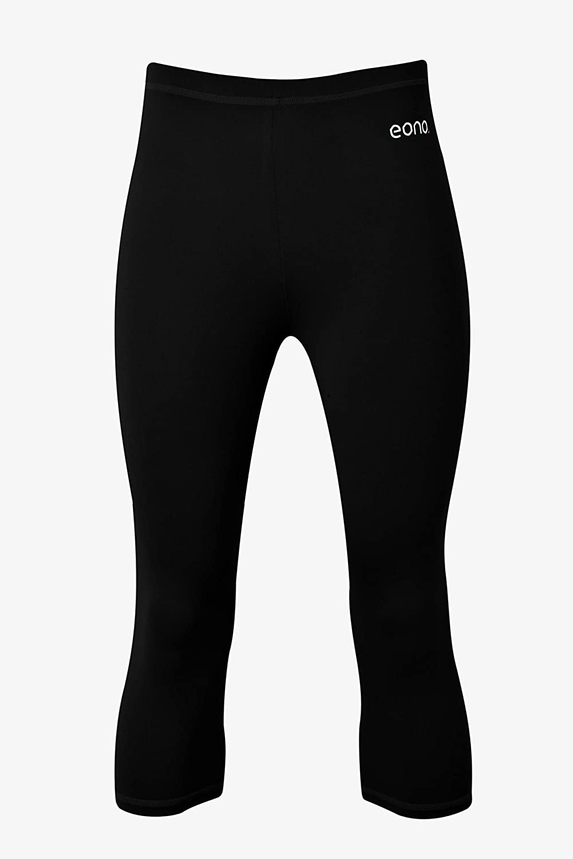 Eono Essentials Mallas de yoga pirata el/ásticas para mujer con cintura media