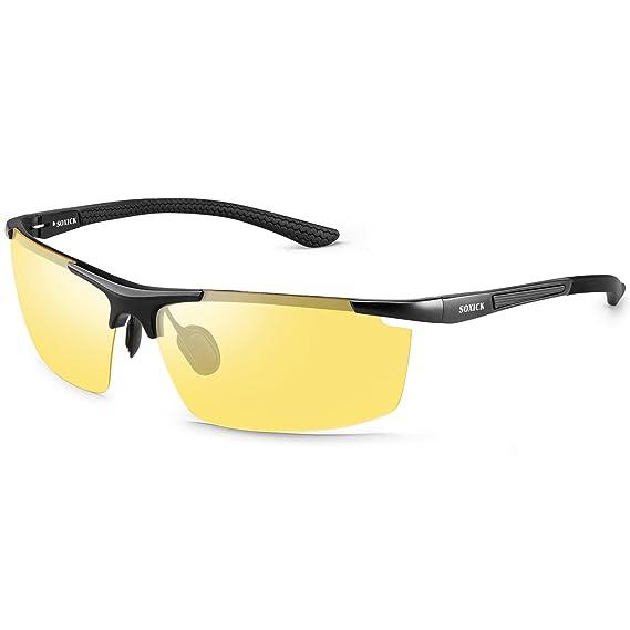 82a263e296 Night Driving Glasses For Men Women Polarized Anti-glare HD Vision Night  Sight Glasses  Amazon.co.uk  Clothing