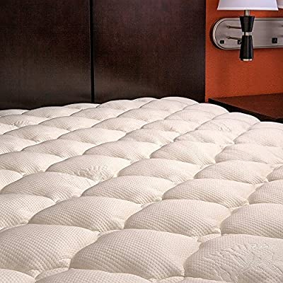 Extra Plush Bamboo Fitted Mattress Topper