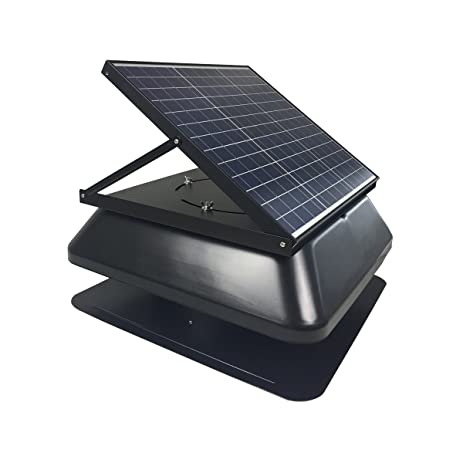 HQST Solar Powered Roof Mount Adjustable Attic Fan With 30W Polycrystalline Solar  Panel