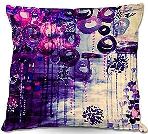"DiaNoche Designs PilLINJuliaDiSanoAtomicPurpleDrea1 Outdoor Patio Couch Throw Pillows, 16"" x 16"""
