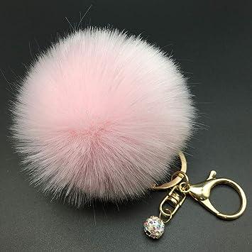 Teydhao Moda Fluffy Pompon Ball, Car Charm Colgante Bolso ...
