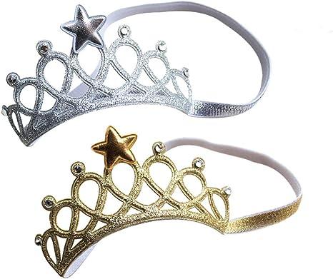 Baby Mädchen Krone Prinzessin Haarspange Netz Stirnband Haarnadel Haar eNDq$ !DE