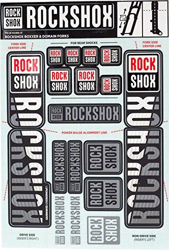 - RockShox Decal Kit 35mm Dual Crown White