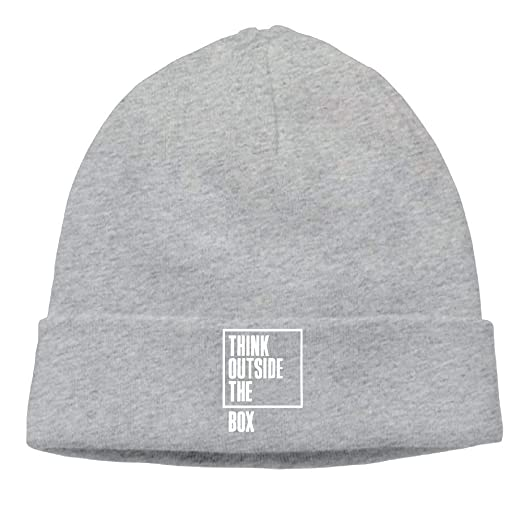 fd0cccc95e1 Amazon.com  Mens Think Out Side The Box Warm Travel Black Beanies ...