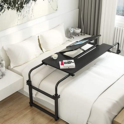 Amazon Com Overbed Table With Wheels Little Tree Multi Function