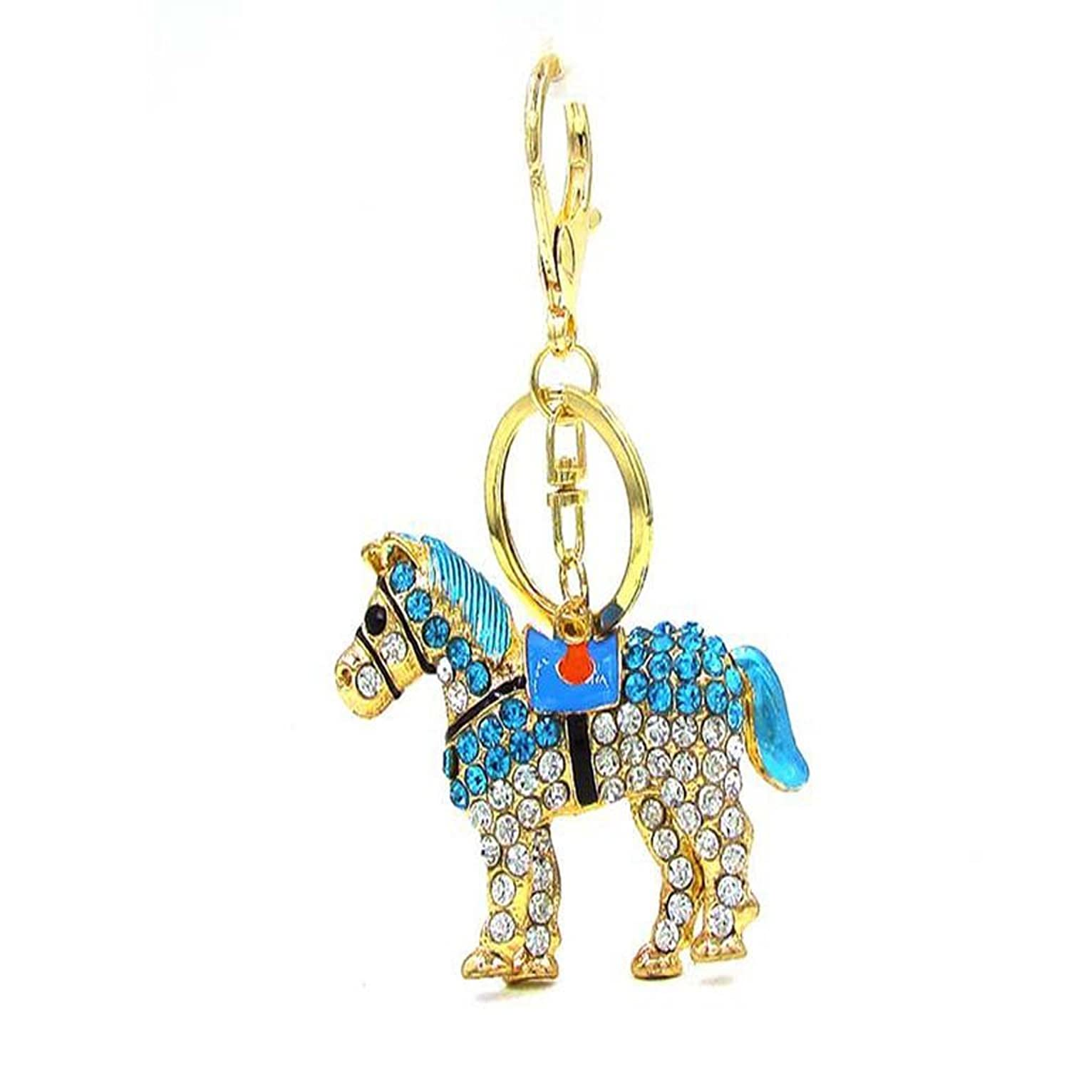 Bbshop Key Chain Cute Luxury Horse Design Keychain Car Keys