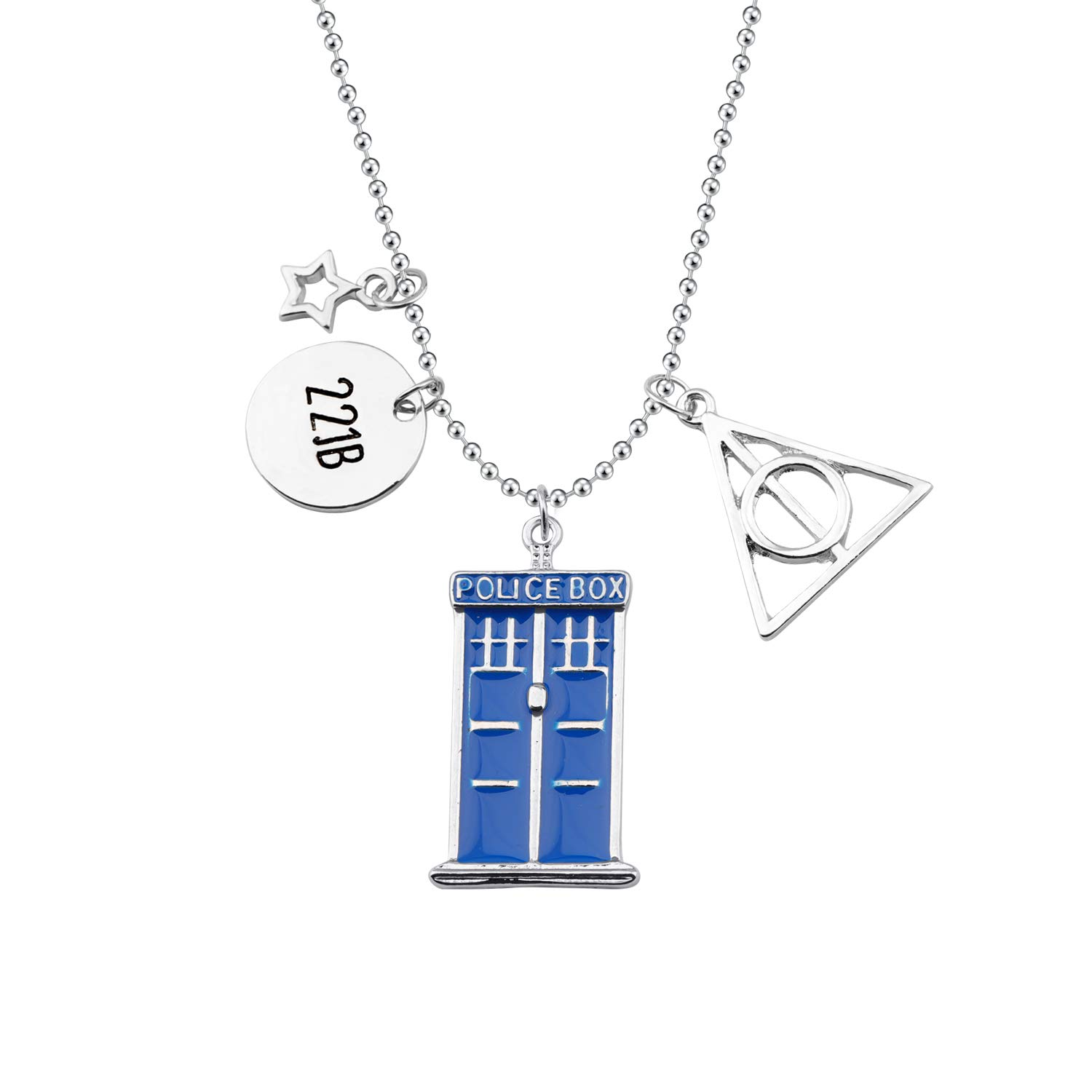 SEIRAA Doctor Who Jewelry Tiny Tardis Pendant Necklace TV Series Gift Nerd Wear Jewelry Gift for Science Fiction Fans