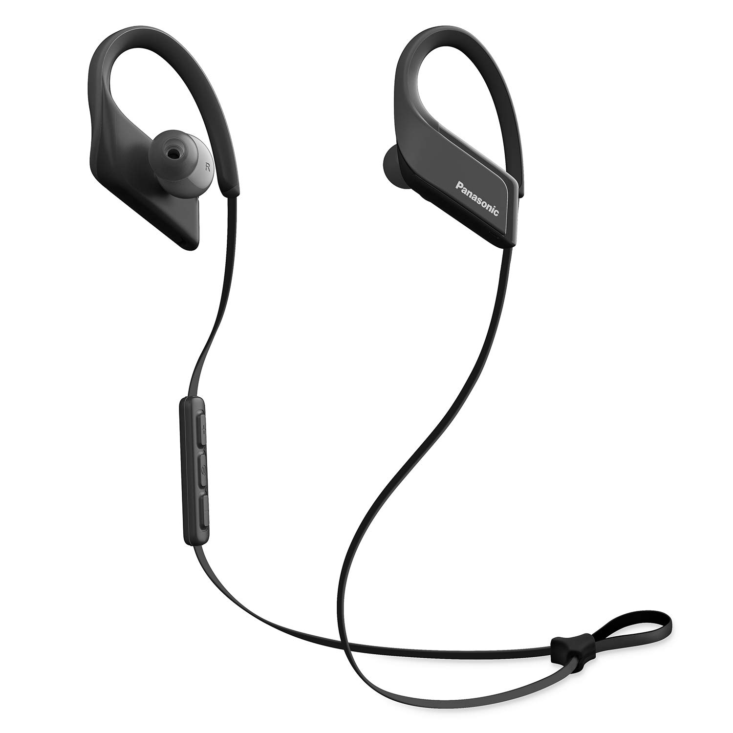 PANASONIC Wings Sport Headphones are Ultra-Light Wireless Bluetooth Sport Earbud 3D Flex Sport Clips with Microphone and Call/Volume Controller, IPX5 Rated Water-Resistant - RP-BTS35-K (Black)