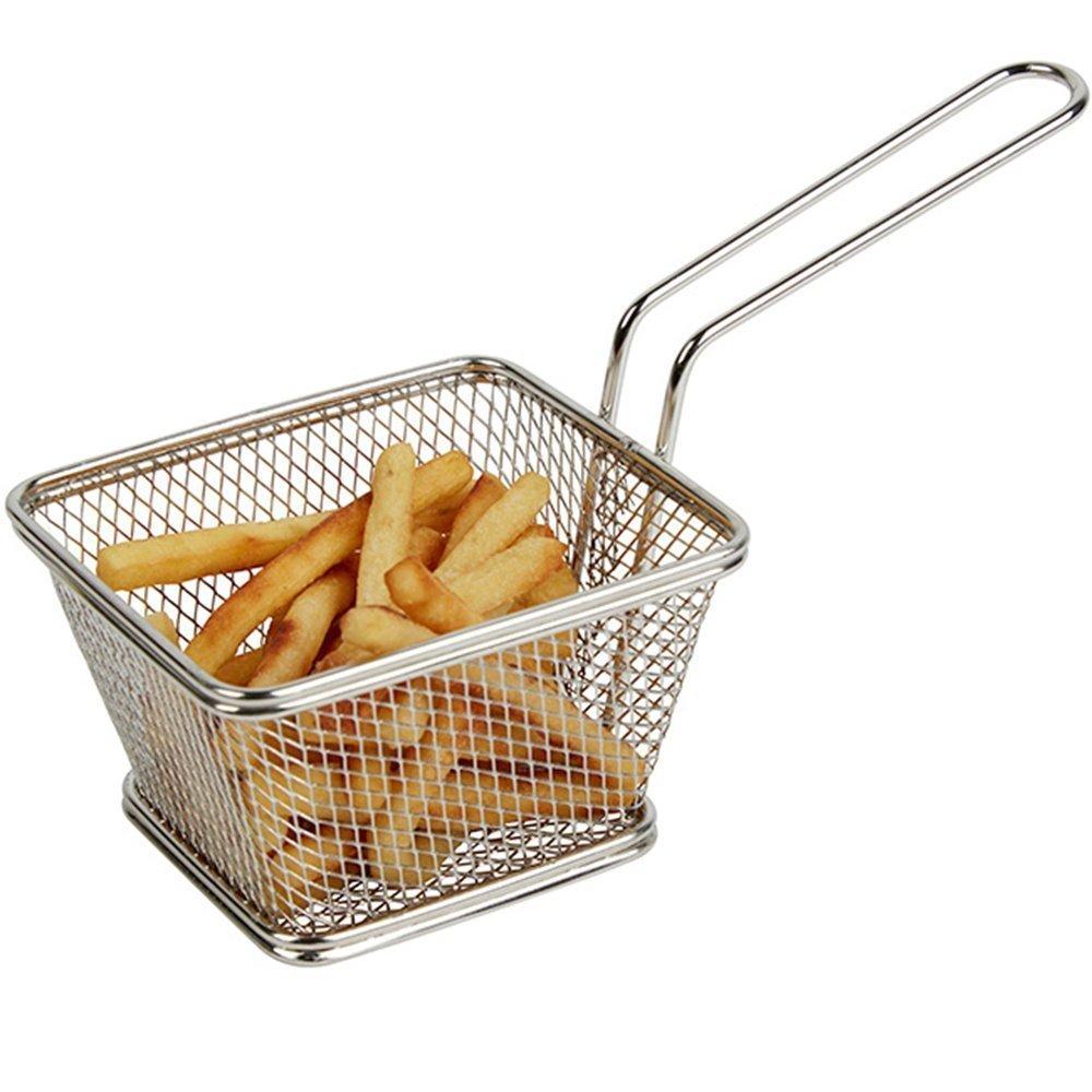 Mini Chips Fry Basket Cestas de Freidora de Acero Inoxidable Colador Servir Presentación de Alimentos Herramienta de Cocina Papas Fritas Basket: Amazon.es: ...