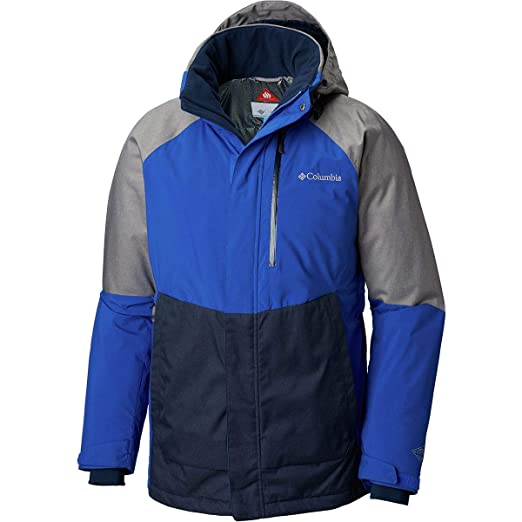 a7679e025ca Columbia Men's Wild Side Jacket, Azul/Boulder Heather, Small