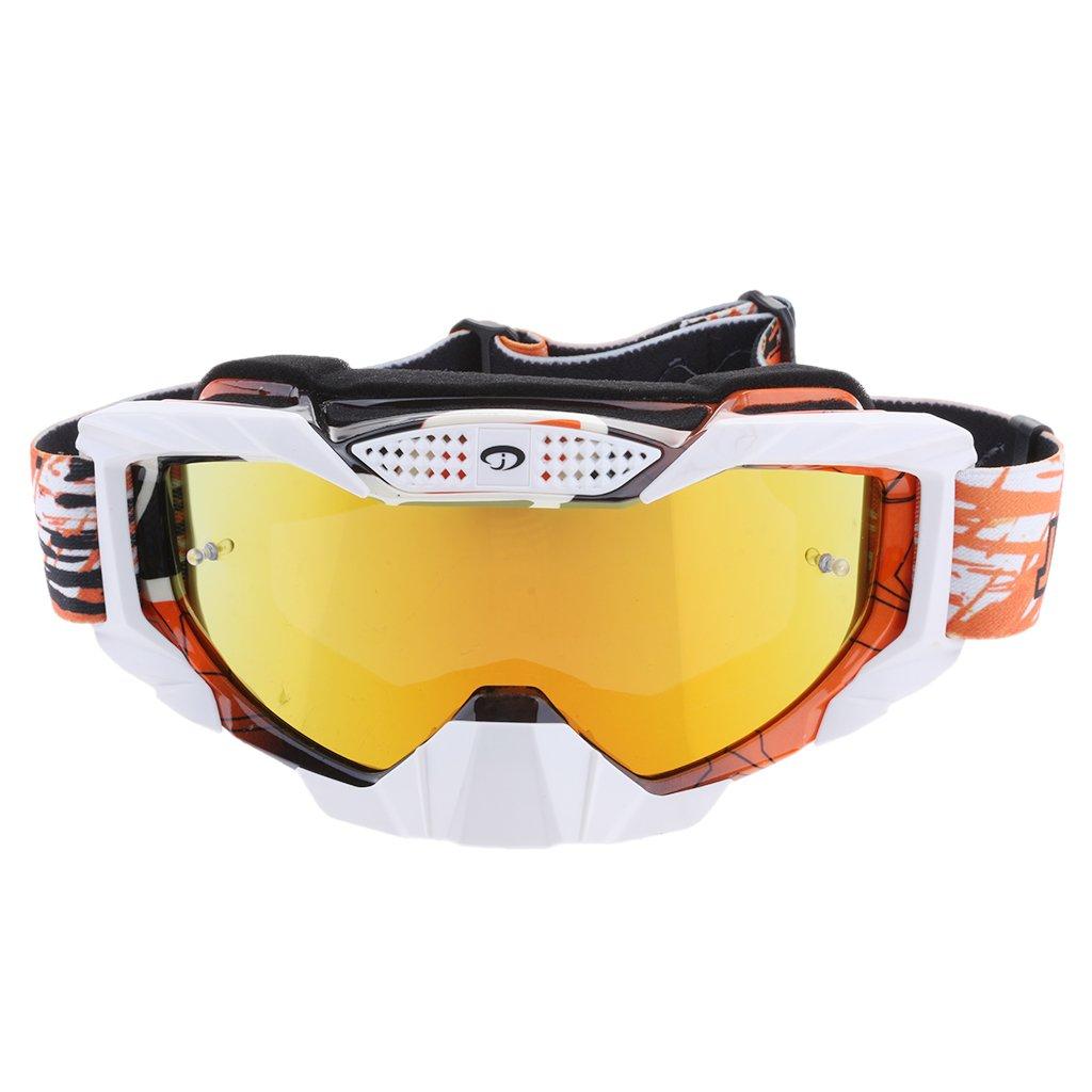 Sharplace Gafas de Motocicleta Protección de Rayos UV Accesorio para Deportes a Aire Libre Esquí - Naranja