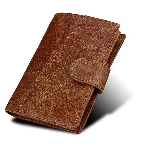 4dcf2822e0a2 Amazon.com: RFID Wallet Antitheft Scanning Leather Wallet Hasp ...