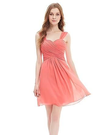 Ever Pretty Ruffles Padded Chiffon Knee-length Bridesmaid Dresses ...