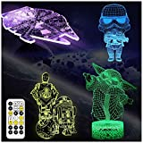 AOEVI Star Wars Gifts, Star Wars Toys 3D Illusion