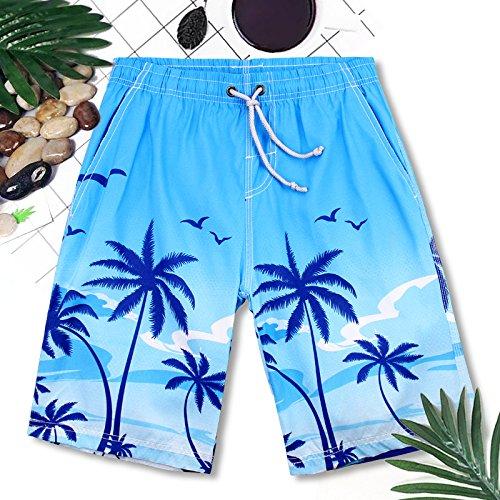 OME&QIUMEI Freizeitaktivitäten Strand Hosen Männer Fast Dry Lose Surf Beach Seaside Resort Spa Badehose Boxer Shorts