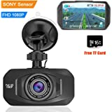 "Auto Dash Cam 1080P FHD Car DVRs Camera With Sony IMX323 Sensor Real Night Vision Mini 170Degree Ultra clear 2.7"" LCD display Car Dashboard Camera Video Recorder with 16GB Card"