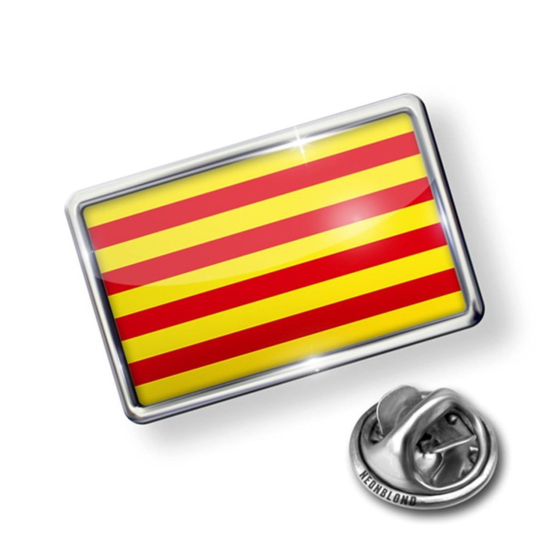 Pin Catalonia Flag region: Spain - Lapel Badge - NEONBLOND