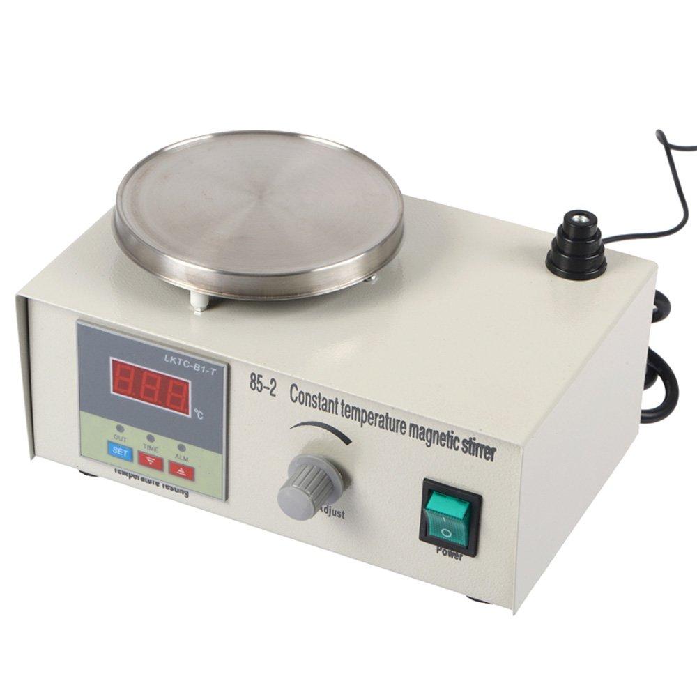 Magnetic Stirrer with Heating Plate - Laboratory Lab Hotplate Mixer LED Display 85-2 110V 220V Enlux