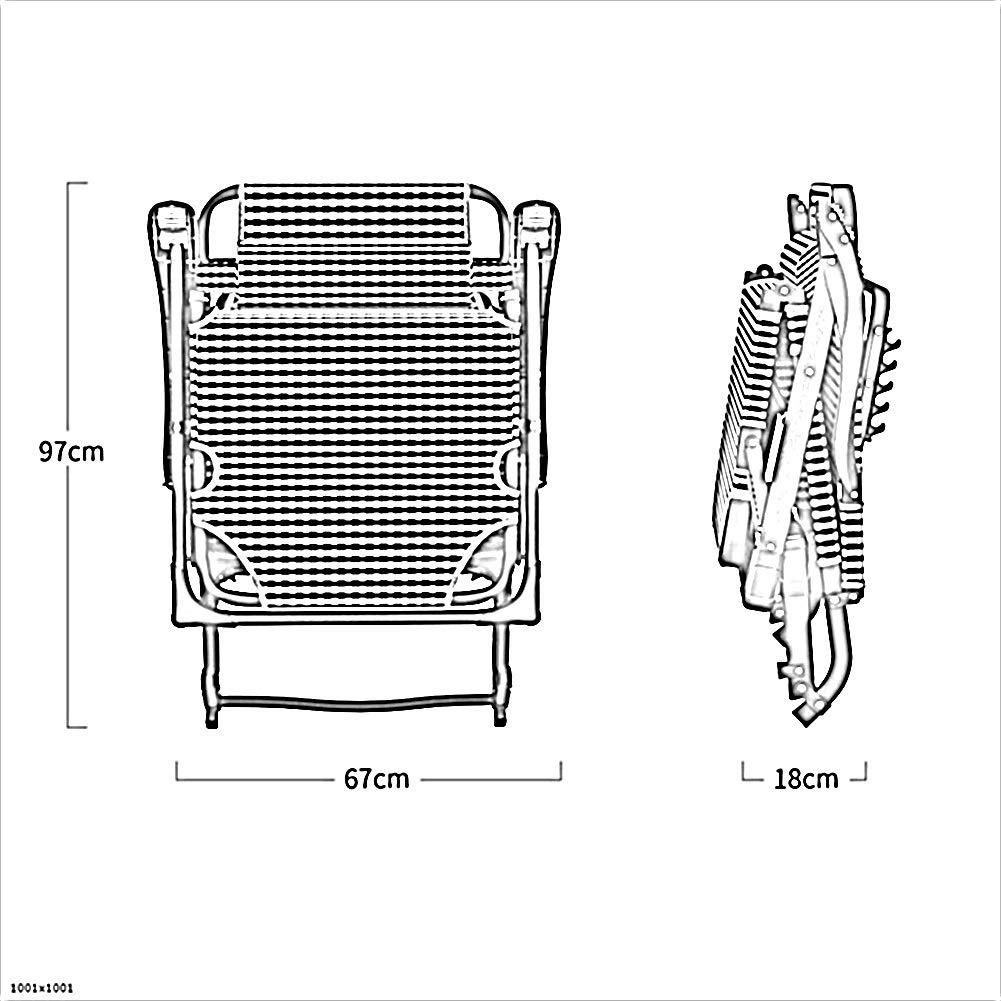 XEWNEG hopfällbar stol järnlegering fritidsstol rörlig utomhus strand camping justerbar kontor lunchspaus-ryggstöd stol med bomullskudde och nackstöd (färg: C) c