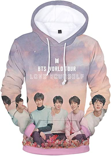 Kpop BTS World Tour Love Yourself Hoodie Men Women Sweater His Her BTS Fans Gift
