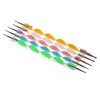 Amazon Magideal 5 Pieces Nail Art Dotting Tools Spiral Head Pen