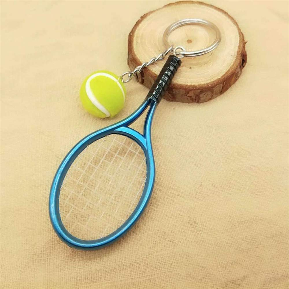 Amazon.com: Axmerdal - Mini llavero de raqueta de tenis ...