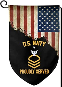 Lufesan Us Navy E-8 Senior Chief Petty Officer E8 Garden Flag Home Flag Outdoor Flags Double Sided Flag