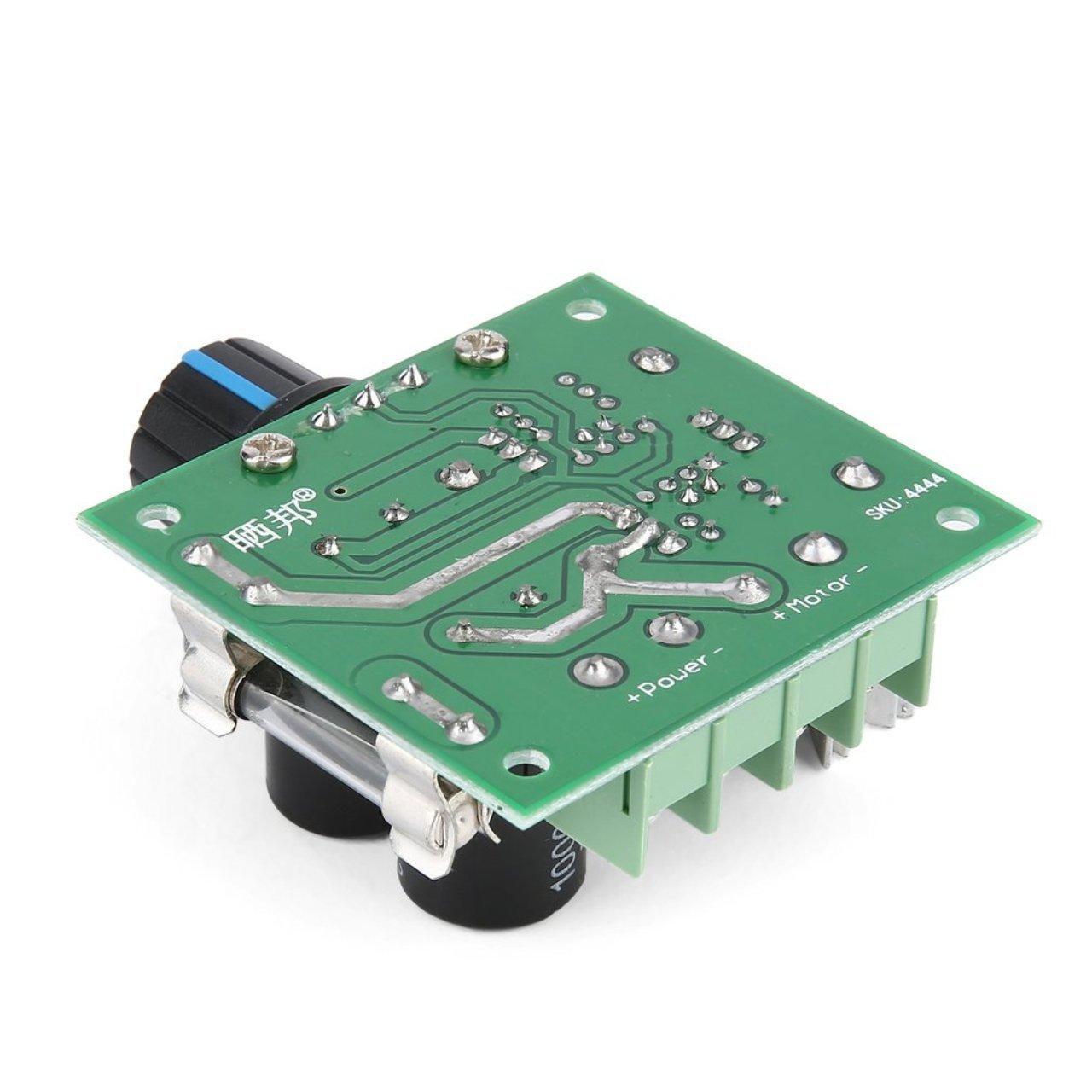 Universale 12V-40V 10A 13khz modulazione di Larghezza di impulso PWM DC Controller regolatore di velocit/à del Motore Interruttore Nero Nero Jasnyfall