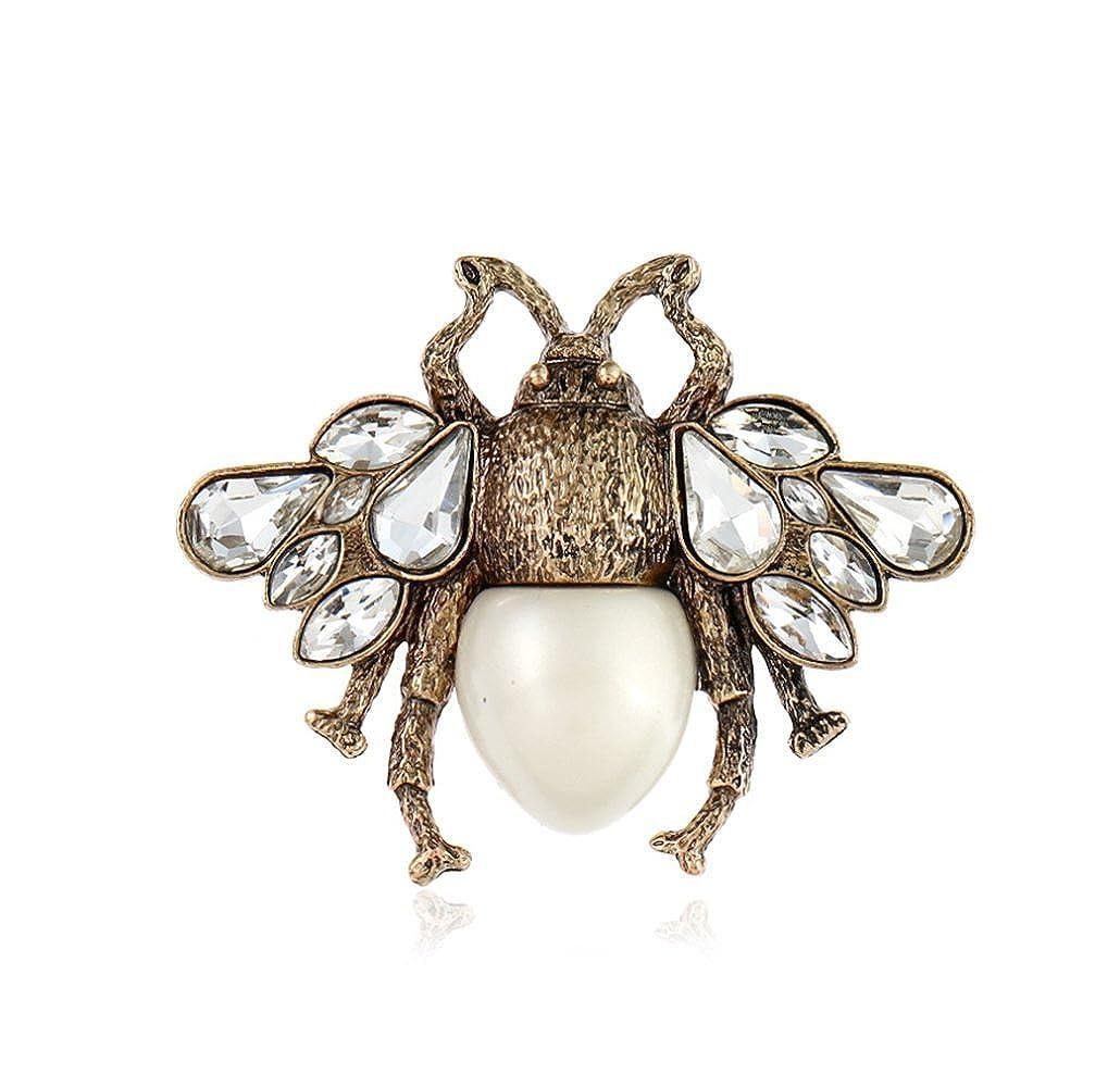 Gespout Broche Bijoux Alliage Femmes filles Bee Blanc Accessoires de vêtements Cadeau d'anniversaire Décoration de Vacances Parties