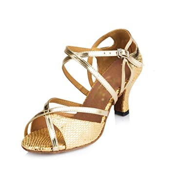 Con Latino Baile Alto Zapatos MujerTacón Zhrui Para De dsrxotQCBh