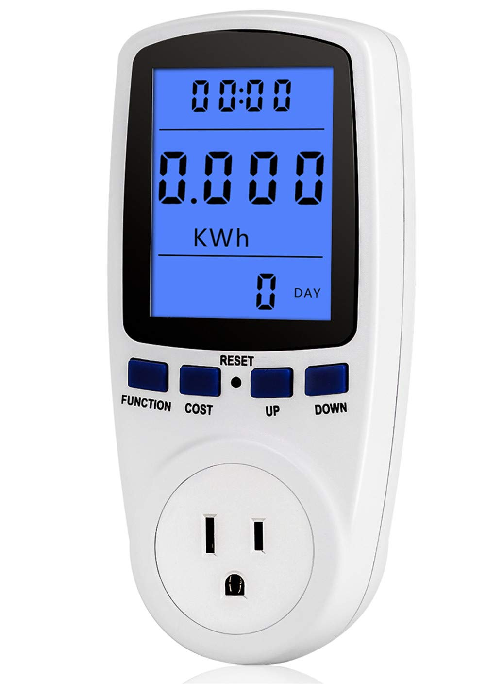 Power Meter Plug Home Energy Watt Volt Amps Wattage KWH Consumption Analyzer Electricity Usage Monitor with Digital LCD Display