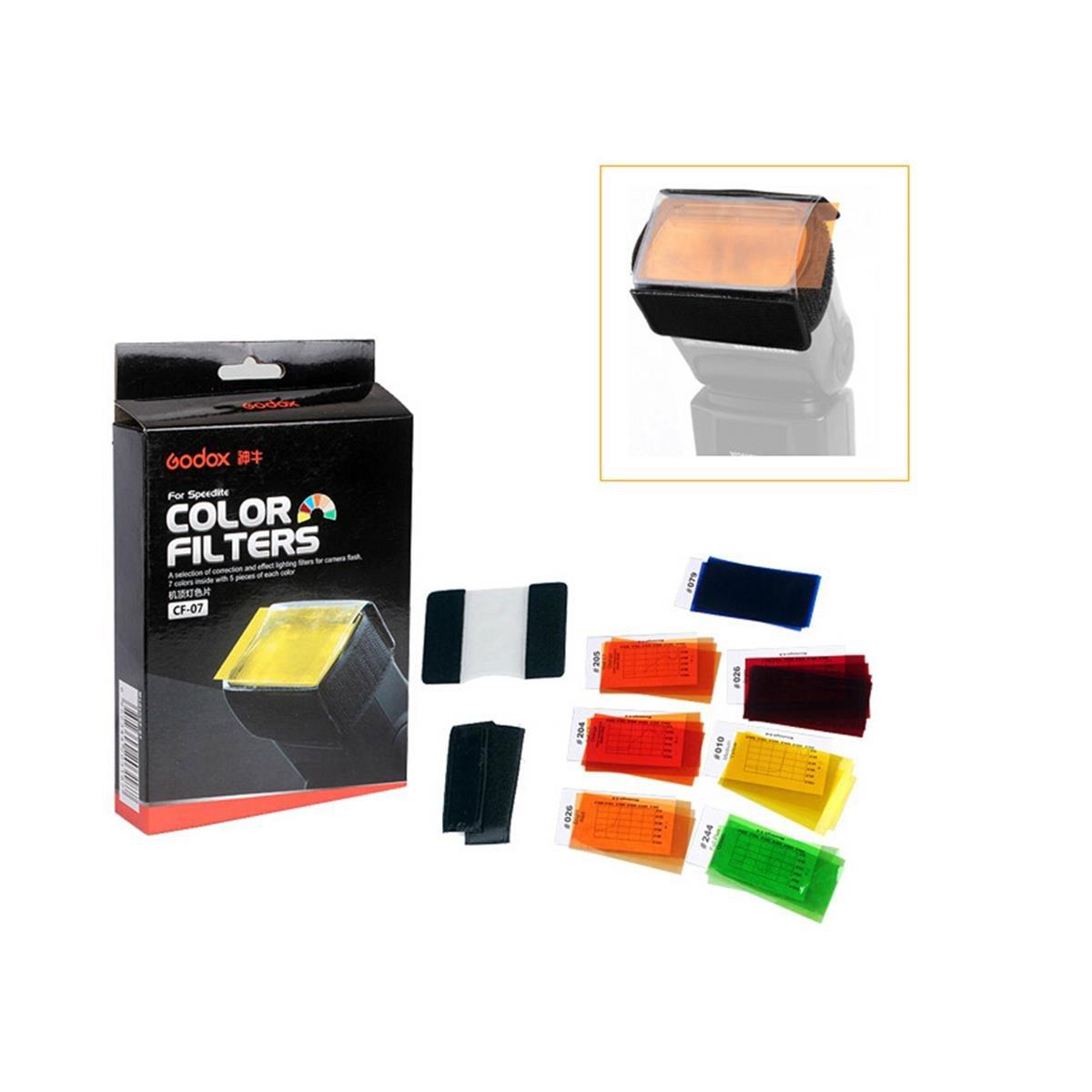 Godox CF-07 Universal Speedlite Color Filter Kit for Canon Nikon Pentax Godox Yongnuo Flash Light Andoer Trams-13194