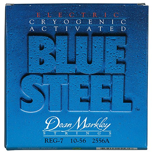 Dean Markley 7-String Blue Steel Electric Guitar Strings, 10
