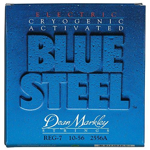 (Dean Markley 7-String Blue Steel Electric Guitar Strings, 10-56, 2556A, Regular)