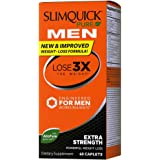 Slimquick Pure Men dietary supplement, 60 Count, Lose 3x the weight (Packaging may vary)