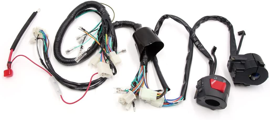 uxcell Motorcycle Electrical Main Wiring Harness
