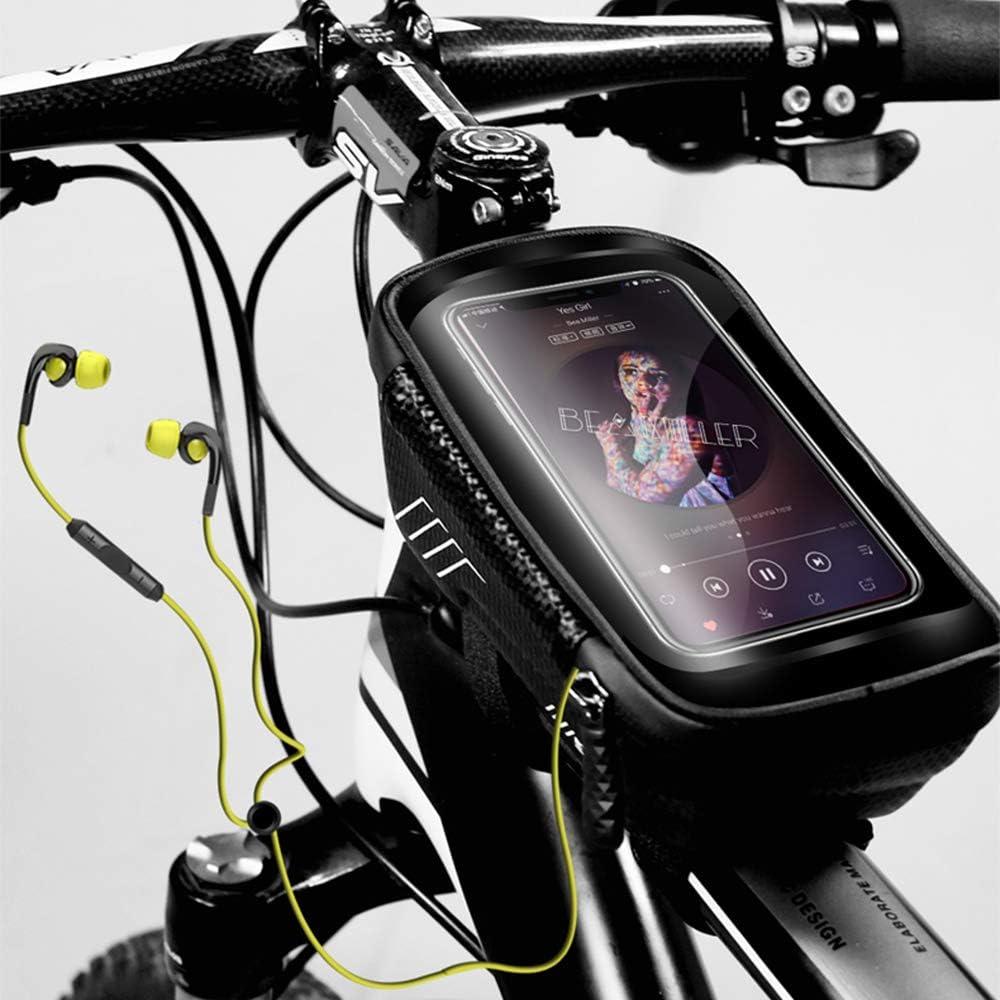 WILD MAN Bicycle Top Tube Front Beam Bag MTB Road Cycling Anti Pressure Sho H8U2