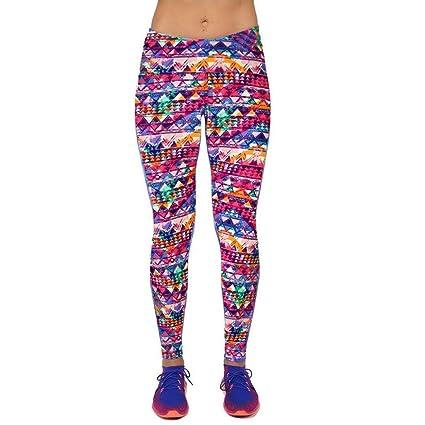 Vovotrade 1pc Alto Cintura Yoga Fitness Sport Pantalones Impresos Stretch Cropped Leggings