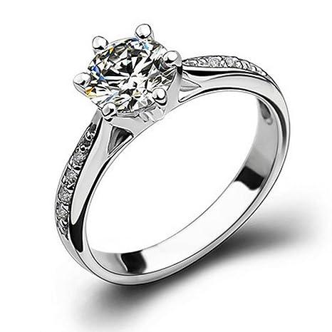Plata anillos de boda fablcrew apertura ajustable anillo de simulación de imitación anillo para dama niñas