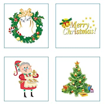 Christmas Sticker Ornamentsreward Stickers For Kids6 Sheets Different Design To Decorate Crafts