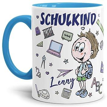 Namen Tasse  SCHULKIND 2019 Geschenk zur Einschulung Schulanfang erster Schultag