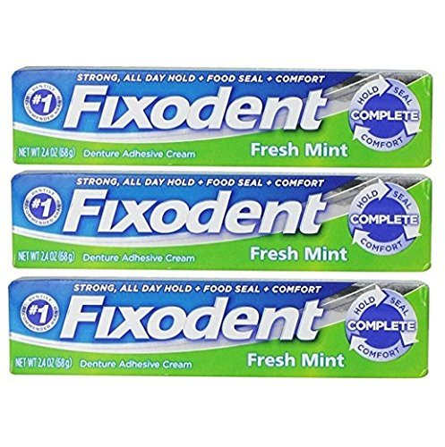 Fixodent Complete Fresh Mint Denture Adhesive Cream 2.4 Oz (Pack of 3) - http://coolthings.us