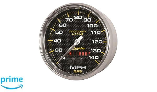 140Mph 5 Marine White GPS Speedometer Auto Meter AutoMeter 200647 Gauge