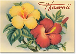 Hawaiian Art Collectible Refrigerator Magnet - Hawaiian Hibiscus