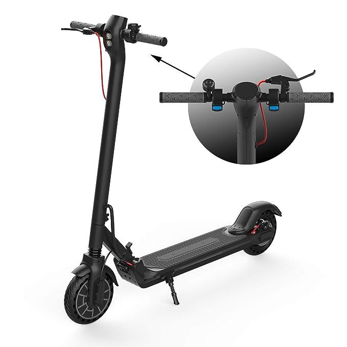 CITYSPORTS Patinete Eléctrico Plegable CS2 con App, Scooter Eléctrico 7.5Ah Batería - Motor 350W- Velocidad Máxima de 25 km/h, Scooter a Prueba de Golpes de 8.5 Pulgadas - Freno de Disco Eficiente