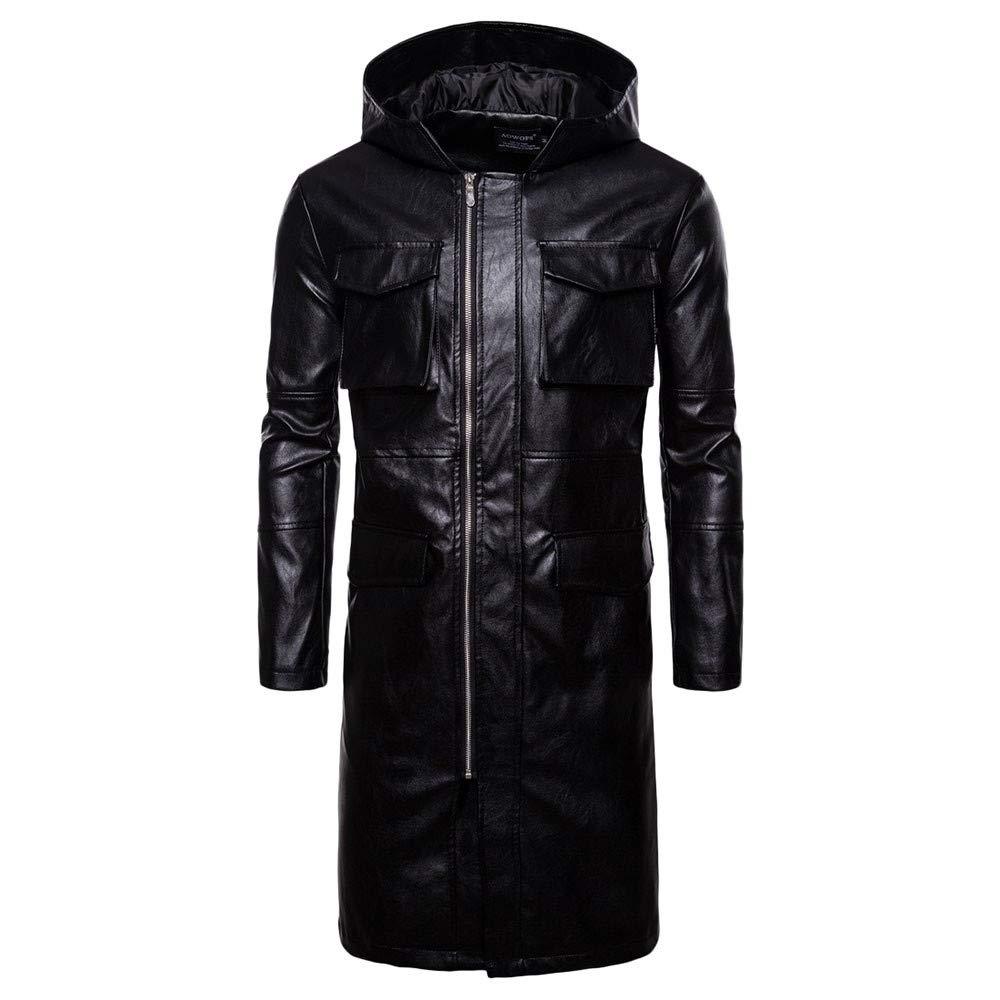 MAYOGO Herren Lange Winter Jacke Männer Große Größen Lang Outdoor Jackets Freien Warm Abriebfest großen Mantel Motorrad Jackett Overcoats for Men