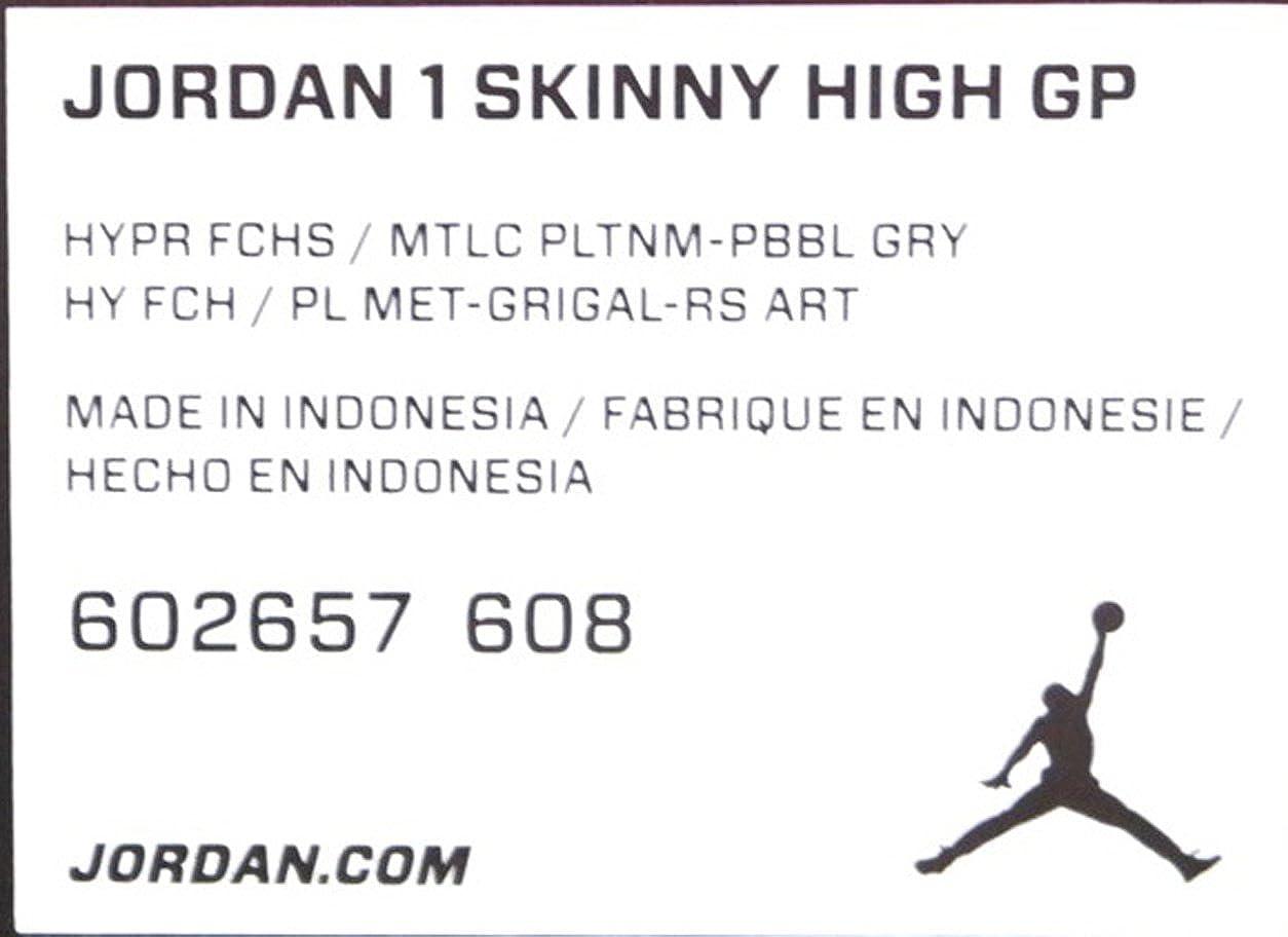 AIR Jordan PRE-School AIR Jordan 1 Skinny HIGH GP PRE-School Sneakers AIR JORDANHYPR FCHS//MTLC PLNM-PBBL GRYM 602657-608