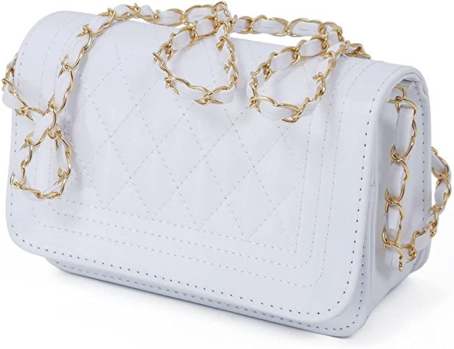 Womens Handbag women messenger bags chain shoulder bag women leather handbags white R SODIAL